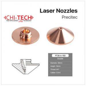 Precitec A 3 DL Cloudray fiber laserske dizne (A tip Precitec) DOUBLE layer, Dia. 28mm, visina 15mm, kalibar 0.8-6.0mm, navoj M11, Chitech fiber laseri