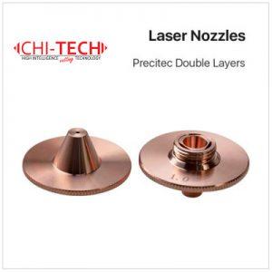 Precitec B 3 DL Cloudray fiber laserske dizne (B tip Precitec TQ) DOUBLE layer, Dia. 28mm, visina 15mm, kalibar 0.8-4.0mm, navoj M11, Chitech fiber laseri