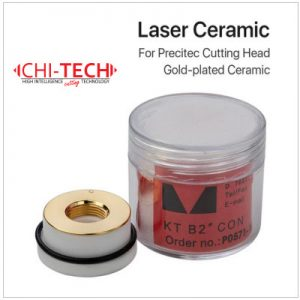 Precitec gold - Pozlaćeni Keramički prsten za Precitec fiber lasersku glavu. Dia. 28mm/24.5mm. Debljina 12mm, navoj M11, Chitech fiber laseri