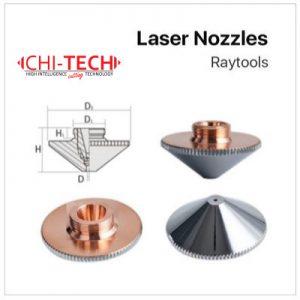 Raytools A3 Cloudray fiber laserske dizne (A tip Raytools) SINGLE layer – kromirane Dia. 32mm, visina 15mm, kalibar 0.8-6.0mm, M14 navoj, Chitech fiber laseri