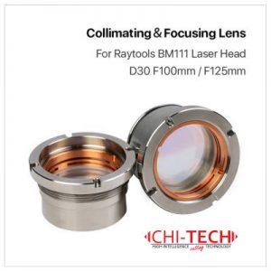 Raytools BM111 Cloudray (Raytools) Fokusna i Kulimacijska sočiva Dia. 30mm F100/125, 2 kom. Double-Convex&Meniscus, Quartz Fused Silica, Chitech Fiber Laseri