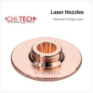 Raytools C1 tip SL-D32m, navoj m14 Cloudray fiber laserske dizne (A tip Raytools) SINGLE layer – kromirane Dia. 32mm, visina 15mm, kalibar 0.8-5.0mm, Chitech fiber laseri