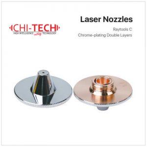 Raytools C2 tip DL-D32 Cloudray fiber laserske dizne (A tip Raytools) DOUBLE layer-kromirane Dia. 32mm, visina 15mm, kalibar 0.8-6.0mm, Chitech fiber laseri