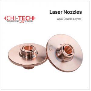 WSX DL Cloudray fiber laserske dizne WSX, DOUBLE layer, Dia. 28mm, visina 15mm, kalibar 0.8-3.0mm, Navoj M11, Chitech fiber laseri